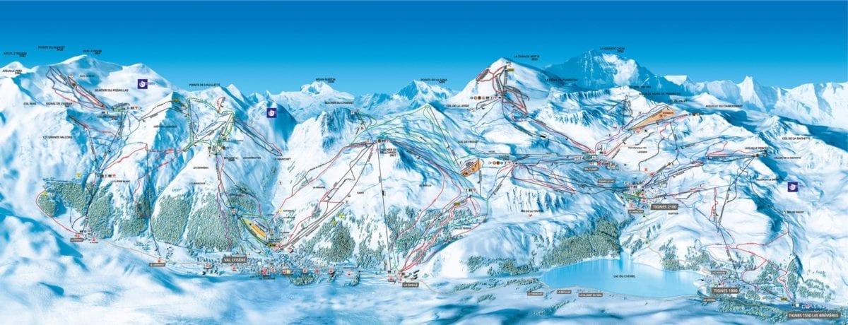 Val d'Isère-Tignes trail map