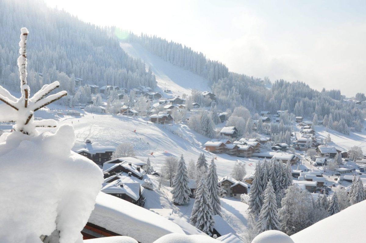 Vue Village Et Domaine Crédit Ot Les Carroz
