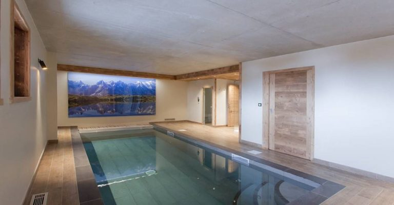 Swimming Pool, Chalet Le Lys 6 Bedroom - sleeps 14, Les Deux Alpes