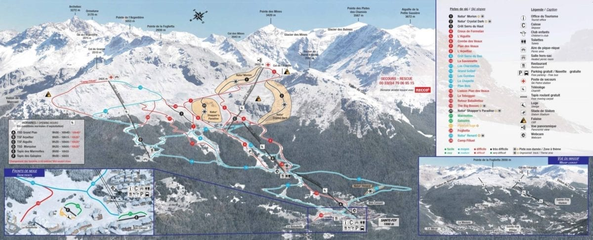 Sainte Foy Trail Map New Lrg