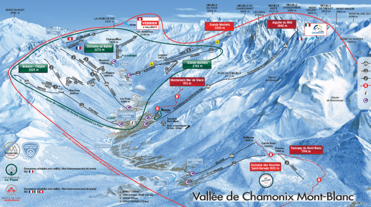 Chamonix Valley Map