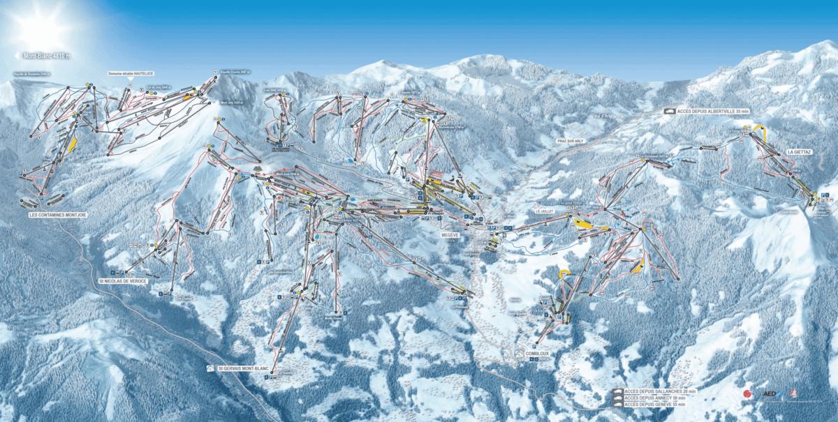 Evasion Mont Blanc Trail Map