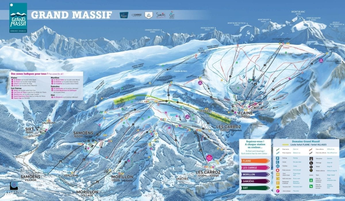 Grand Massif Trail Map 2019 1