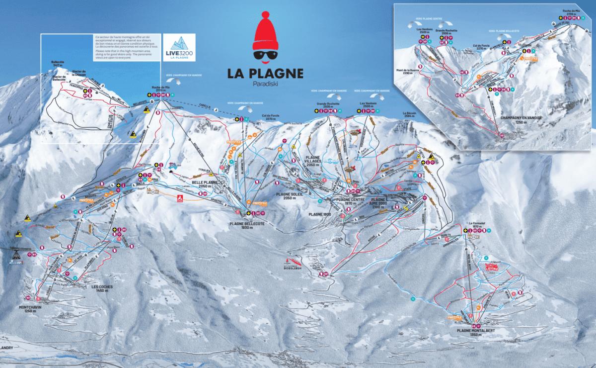 La Plagne Trail Map