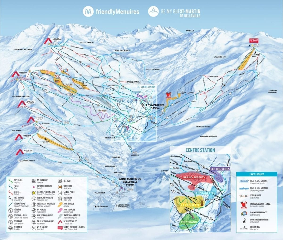 Les Menuires St Martin Trail Map 2019 1 1