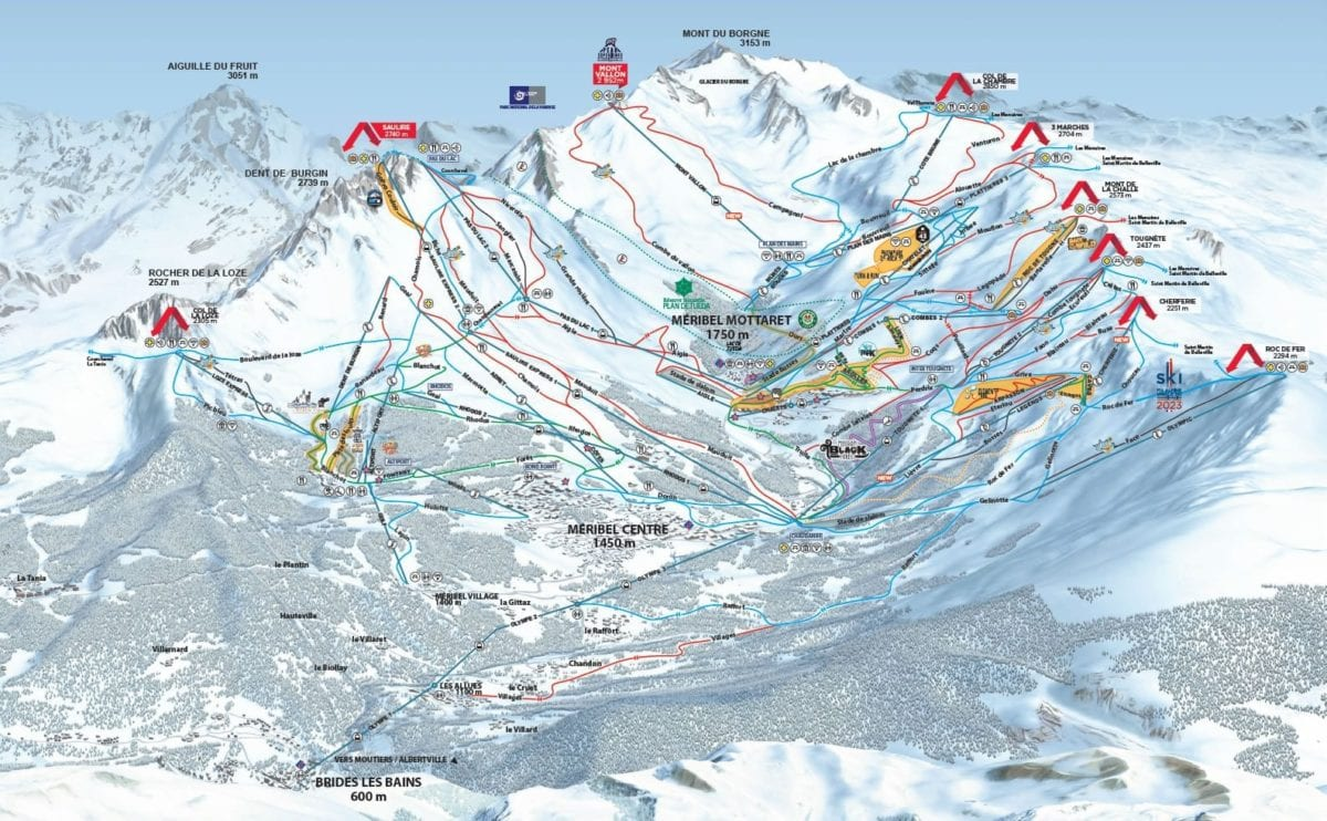 Meribel Trail Map 2019 Large 1 1
