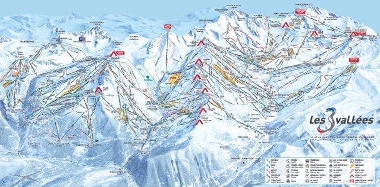 The 3 Valleys Trail Map Large