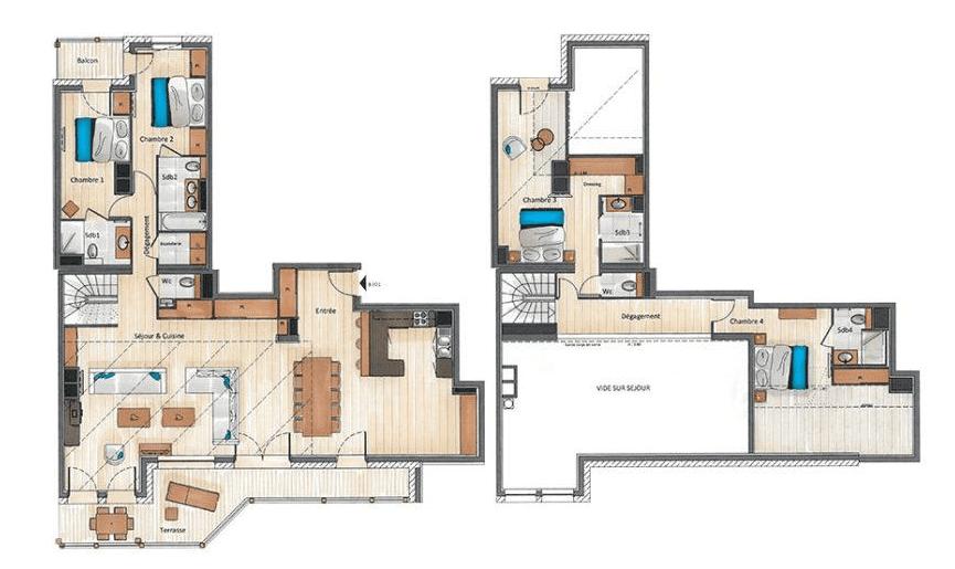 Residence Annapurna 4 Bedroom Penthouse B301 Floor Plan