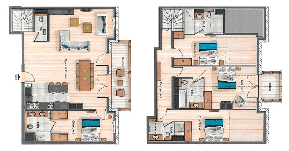 Residence Annapurna 4 Bedroom Penthouse B302 Floor Plan