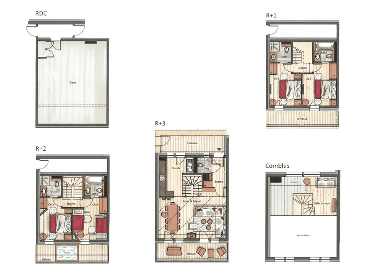 Yellowstone Lodge 4 Bedroom Chalet 3 Courchevel La Tania Floor Plan