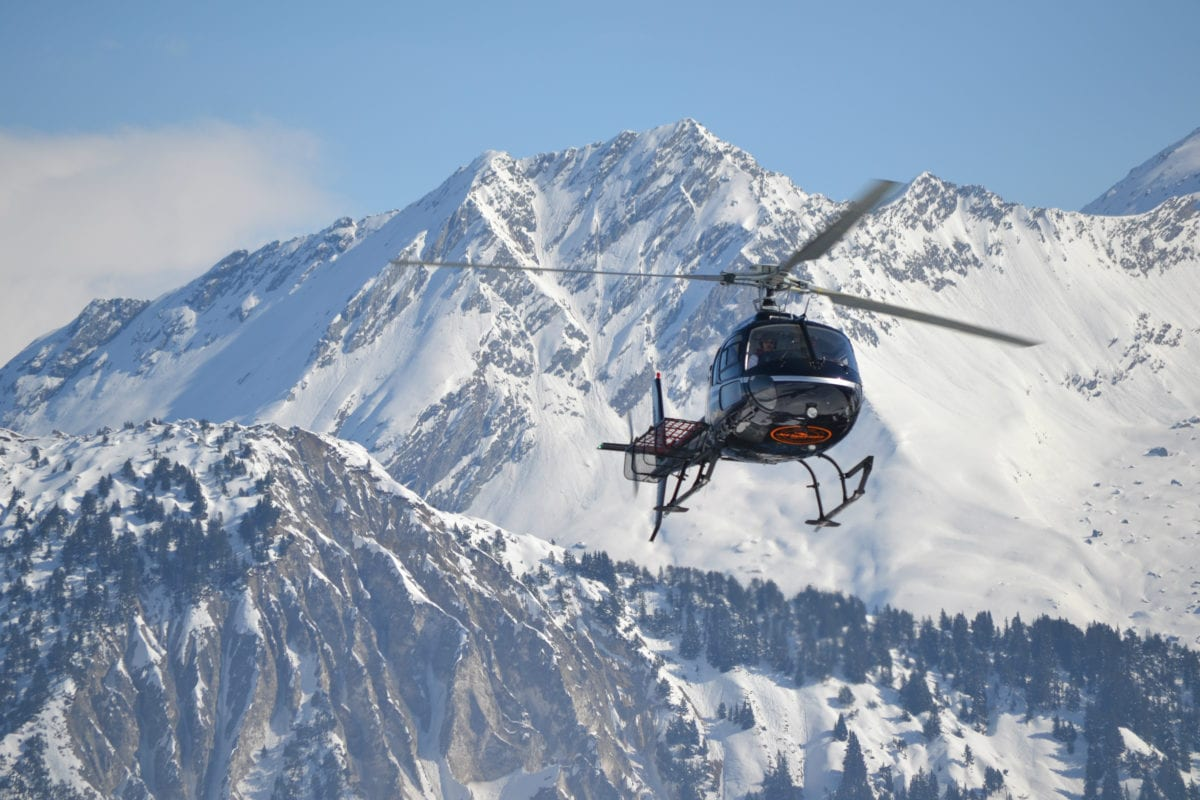 Helicopter transfer Courchevel