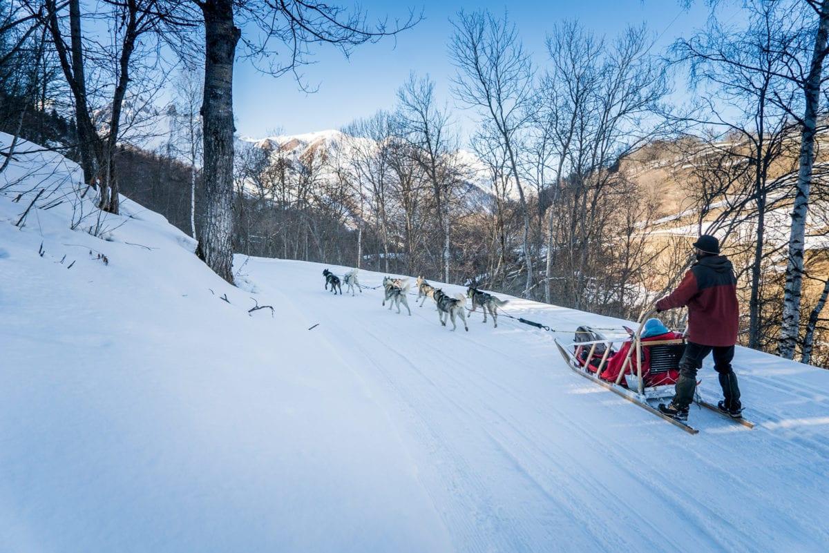 Dog sled ride Les Menuires Vincent Lottenberg